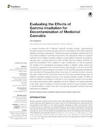 Pdf Evaluating The Effects Of Gamma Irradiation For Decontamination