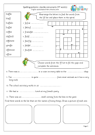 250 free phonics worksheets covering all 44 sounds, reading, spelling, sight words and sentences! Double Consonant Ff Words Double Consonants By Urbrainy Com