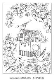 Small Picture birds house coloring page Pinterest Bird houses