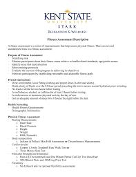 Fitness Assessment Description