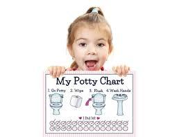 Potty Training Chart For Girls Printable Girls Potty Training Chart Young Child Toddler Potty Chart