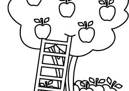 apple tree coloring page. Interesting Coloring Apple Tree Coloring Page Template Free  On Apple Tree Coloring Page