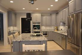 kitchen grey cabis viscon white granite and black interior doors whitewash cabinets before after cabinet ideas
