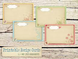 Recipe Cards Templates 25 Free Printable Recipe Cards Home Cooking Memories