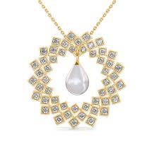 the kara pearl pendant diamond jewellery at best s in india sarvadajewels com