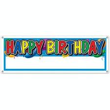 happy birthday customized banners