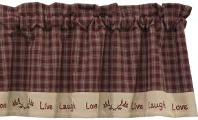 country red kitchen curtains with