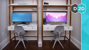 office computer setup. Office Setup Tour 2018 Office Computer Setup A