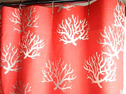 c reef shower curtain shower curtains c colors c reef fabric shower curtain m l f curtain call c reef shower curtain salmon colored