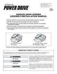 unique craftsman garage door opener manual 4107 5