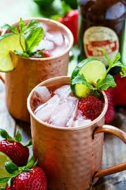 strawberry moscow mule such a refreshing summer drink made from ginger beer vodka