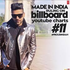 India Billboard Charts Guru Randhawas Latest Song Made In India Ruling Billboard