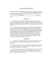 Data Confidentiality Agreement Best 44 Non Disclosure Agreement Templates Samples Forms Template Lab