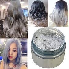 gray diy hair color wax mud dye coloring cream temporary modeling 7 colors tools