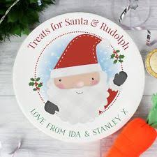 PERSONALISED Santa Claus Rudolf Christmas Eve Mince Pie Carrot Plate Gift