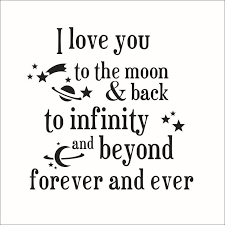 Quote I Love You To The Moon And Back New I Love You To The Moon And Back Quotes Wall Stickers New Arrivals