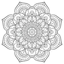 Mandala Art Therapy Coloring Pages Sample Mandala Coloring Page