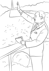 Small Picture Martin Luther King I Have a Dream coloring page from Famous people