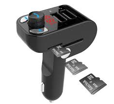 3-in-1 <b>Bluetooth</b> carkit with FM-radio transmitter and <b>USB</b> 3.1 A ...
