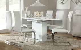attractive large white dining room table osaka white high gloss extending dining table and 6 chairs