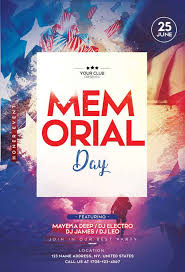 Free Memorial Day Party Flyer Template Download Freepsdflyer