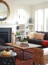 ... Casual Family Living Room, Inspiration For A Small Farmhouse Open  Concept Living Room Remodel In Boise With ...