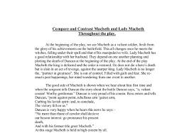 compare and contrast macbeth and lady macbeth throughout the play  document image preview