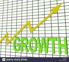 Chart Showing Increase Growth Graph Chart Showing Increase Sales Profit Stock Photo