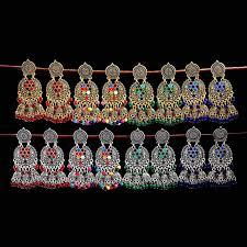 <b>TopHanqi</b> Vintage Gold Sliver Metal Bell Tassel <b>Indian Jhumka</b> ...