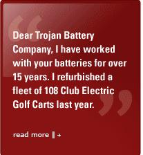 trojan battery company technology info golf and utility vehicles