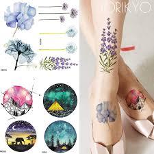 2657 руб 15 скидкаiorikyo акварель цветок временная татуировка женщины рука цветок