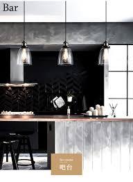 Unimall Hängelampe Pendelleuchte Glas Retro Industrie Stil Esszimmerlampen Hängend Ideal Für Bar Küche Esszimmer Ohne Glühbirne