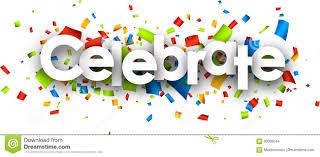 Celebrate Banner Celebrate Paper Banner Stock Vector Illustration Of White