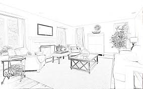 interior design living room drawings. Brilliant Living Modern Living Room Perspective Drawing  Home Interior Decoration Sketches Intended Design Drawings C