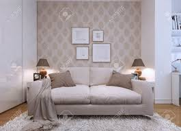 Wallpaper Designs For Living Rooms Wallpaper Stock Photos Pictures Royalty Free Wallpaper Images