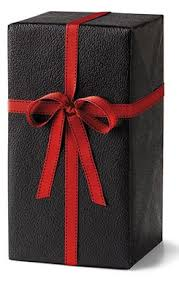 las home journal gift wrap horseshoe gift packaging black embossed leather gift wrap roll
