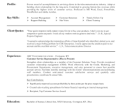 Sample Resume For Customer Service Representative Telecommunications Template Ultimate Resume Skills Customer Service Representative 21