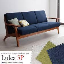 nordic design wood elbow sofa lulea luleå three seat sofa sofa scandinavian retro modern antique three seat three seat wood elbow wood frame natural