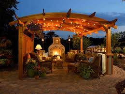 image outdoor lighting ideas patios. Lights For Pergola Images Lighting On Pinterest And Stacked Stone Fireplaces Night Atmosphere Fireplace Image Outdoor Ideas Patios T