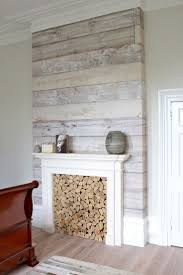 First this is absolutely gorgeous and I want it. Second, that is  WALLLPAPER! (Woodplank wallpaper on chimney breast), wallpaper accent wall