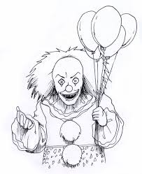 Scary Coloring Pages Clown Coloringstar