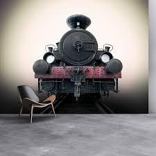 vintage railway train wall mural black steam train photo wallpaper travel decor