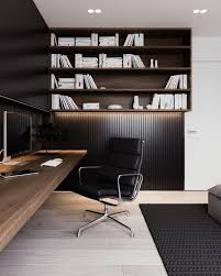 family home office. a calm and simple family home with neat features officespace simplistic office