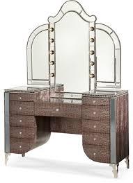 Aico Michael Amini Hollywood Swank Vanity and Mirror Amazing