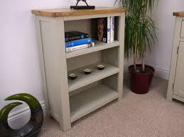 Living Room Furniture Oak Grey Painted Oak Small Bookcase Oak City