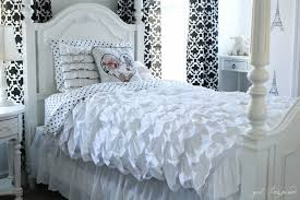 winsome inspiration ruffled duvet cover sewing tutorial girl inspired so pretty ruffle canada king set