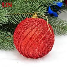 Decorated Styrofoam Balls ceiling 100cm Christmas red thread decorative foam decoration natal 82