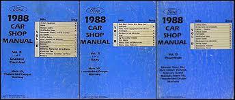 1988 ford thunderbird and mercury cougar wiring diagram original 1988 fomoco repair shop manual original vols b d mustang thunderbird cougar mark vii 149 00