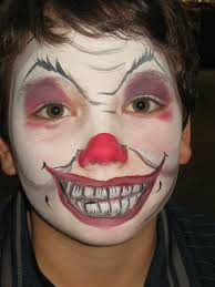 scary clown halloween face paint