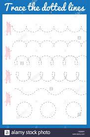 Penmanship Practice Sheet Trace The Line Handwriting Practice Sheet Educational